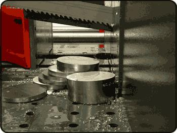 Q1002 Carbide, Triple Chip Band Saw Blade in action