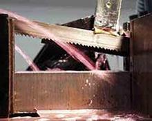 Band Saw Blade Cutting Solids Correctly