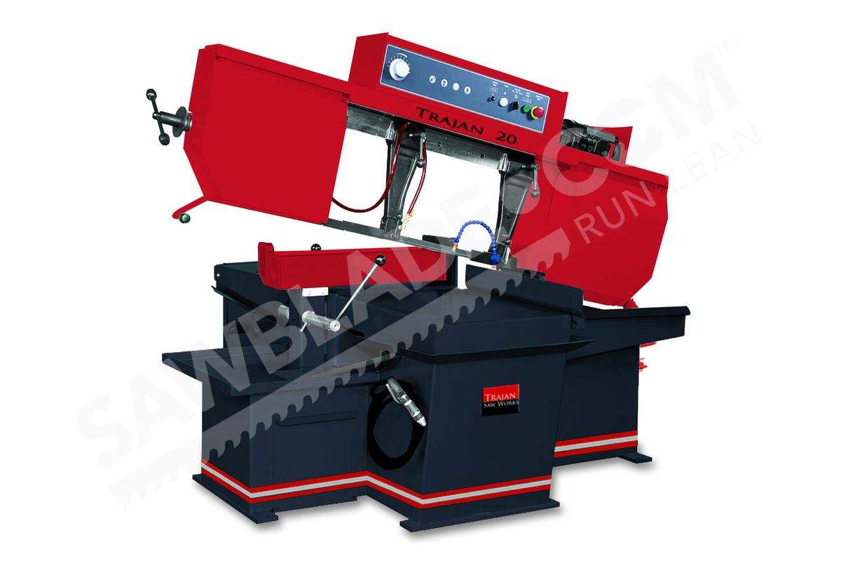 Trajan 20 60 degree miter cutting horizontal band saw keyboard keysfo